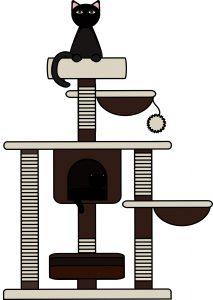 gebrukkte katten krabpaal