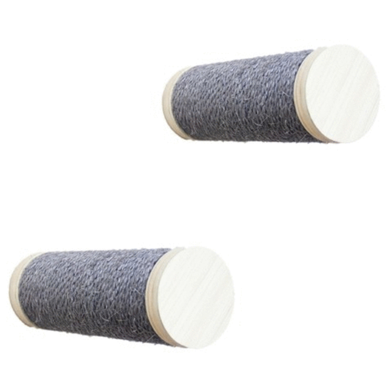 All-For-Paws-Skywalk-Large-Step-Post-Playground-2-Pack-Wandkrabpaal-23×12.5×28-cm-Grijs