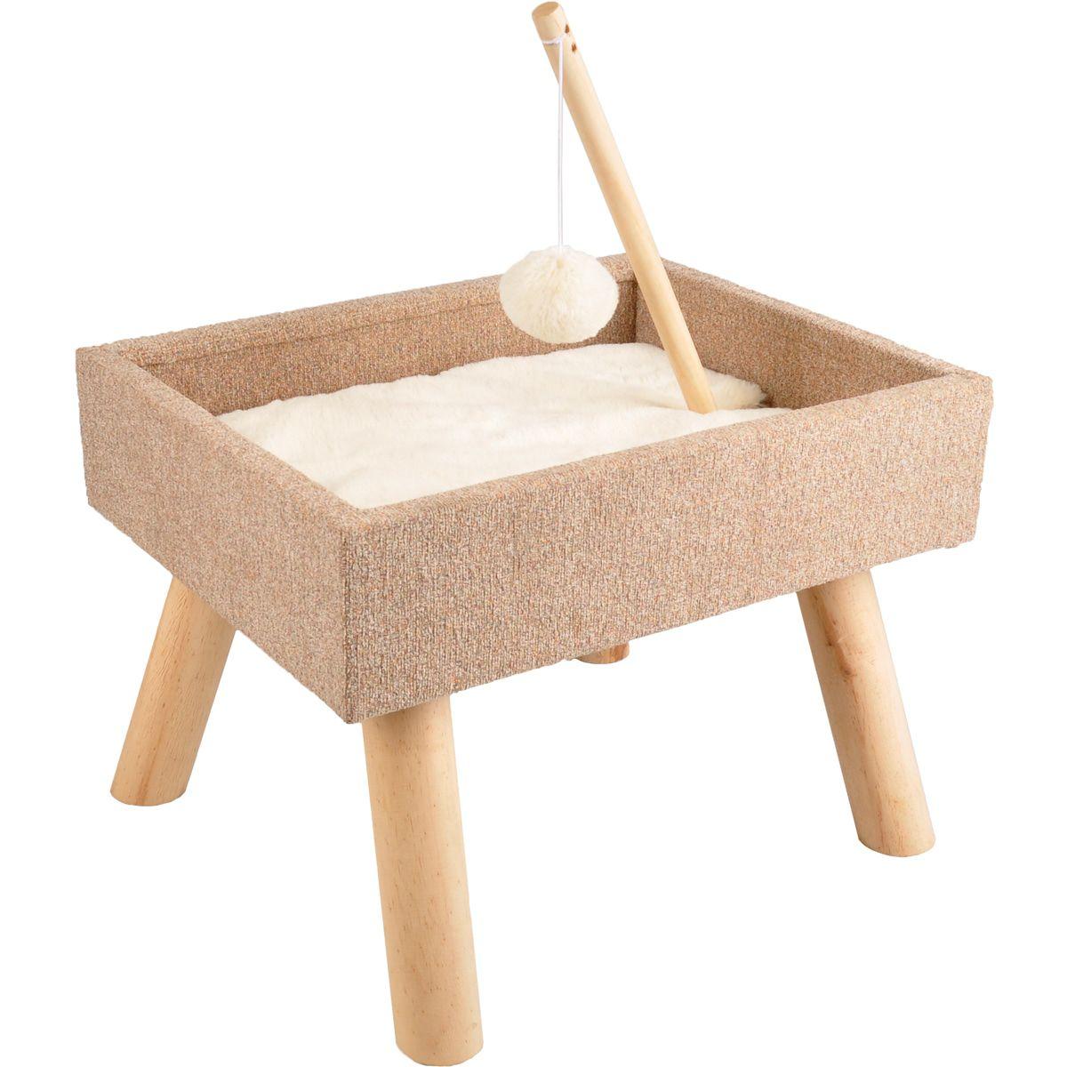 Kattenmeubel-Scandi-Bed-43.5-x-40-x-54.5-cm-Flamingo-Beige