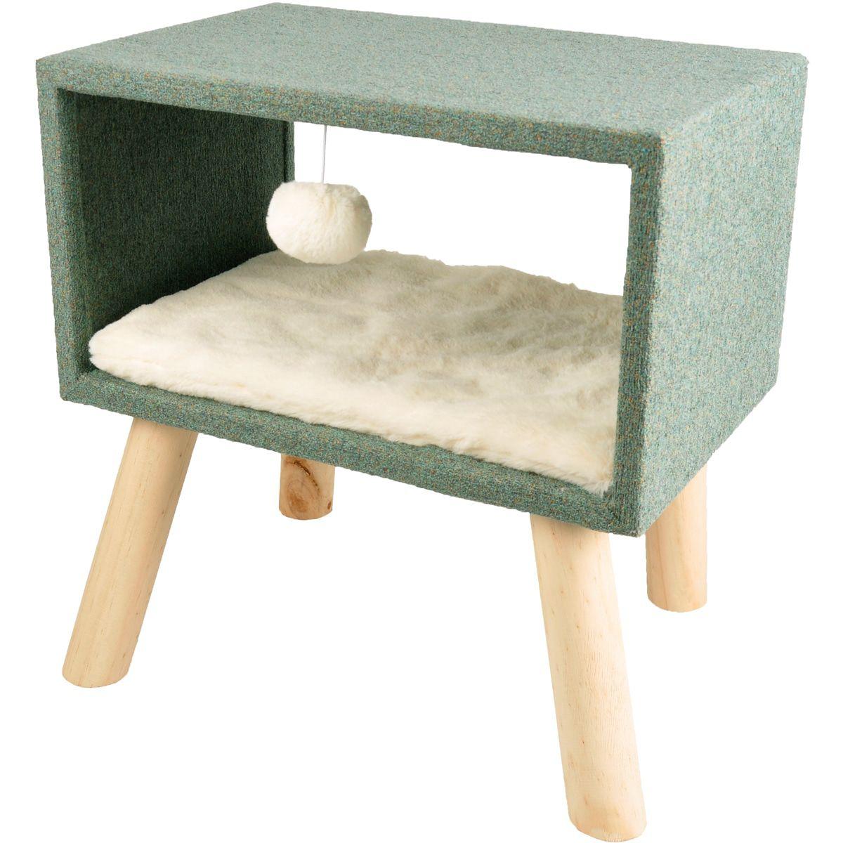 Kattenmeubel-Scandi-Kubus-44-x-40-x-45-cm-Flamingo-Groen