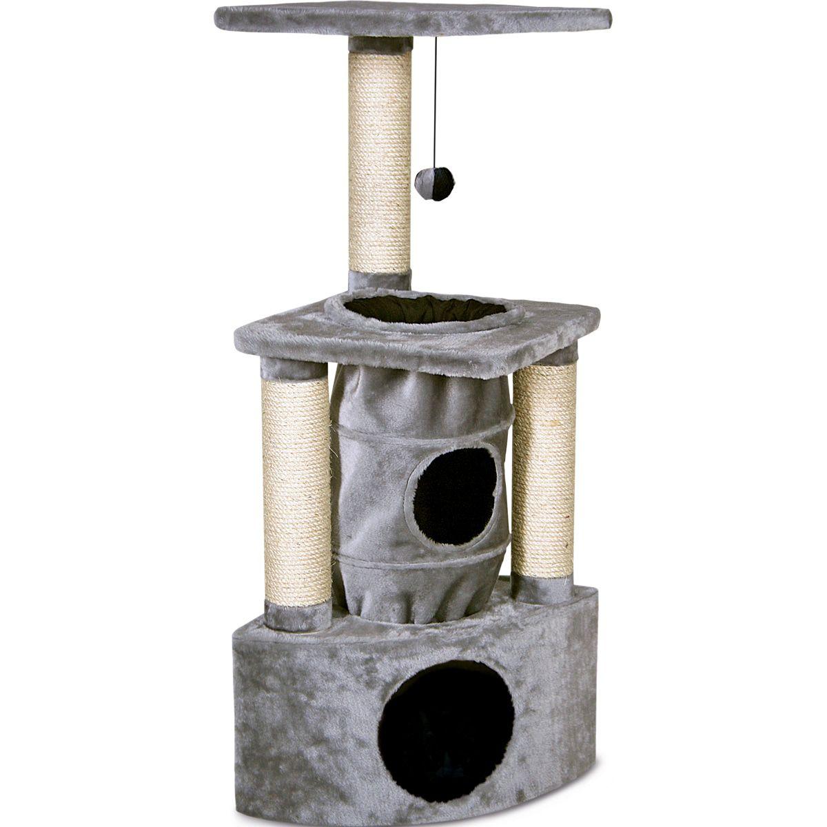 Krabpaal-Rochefort-Grijs-38-x-38-x-105-cm-Flamingo-Grijs