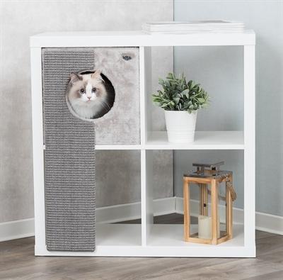 Trixie-kattenmand-voor-kasten-met-krabplank-grijs-33X37X70-CM