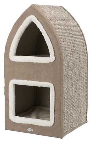 Trixie-krabpaal-cat-tower-marcy-bruin-creme-38X38X75-CM