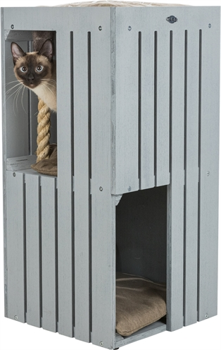 Trixie-be-nordic-cat-tower-juna-grijs-38X38X77-CM