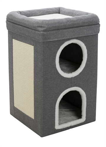 Trixie-krabpaal-cat-tower-saul-grijs-39X39X64-CM