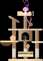 Kattenkrabpaal constructie